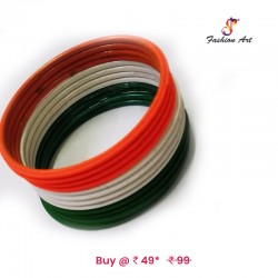 Tiranga-2 - Kids Metal Bangle Set