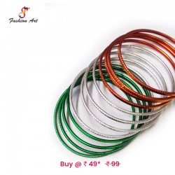 Tiranga - Kids Metal Bangle Set
