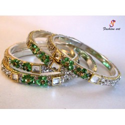 Chowki Churi - Stoned Studded Brass Bangle (6-Set's Box)