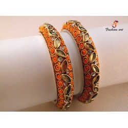 Kundan Kala - Brass Bangle Set (6 Set's Box)