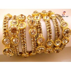 Royal Crown - Brass Bangle (6 Set's Box)