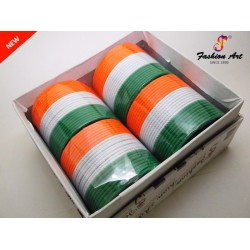 Koming Soon Tiranga - Metal Bangle (4 Set's Box)