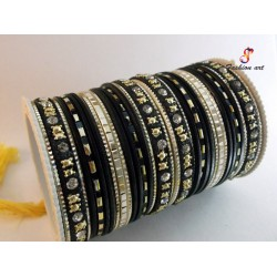 Fa-111 Fancy Metal Bangle (6 Set's Box)