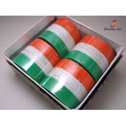 Firdos Tiranga - Metal Bangle (4 Set's Box)