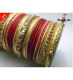 KRV 530 (RED) - Metal Bangle Set