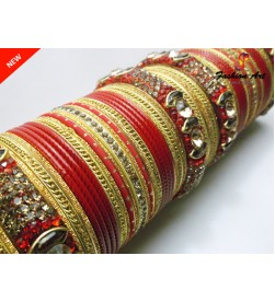 KRV 575 (RED) - Metal Bangle Set