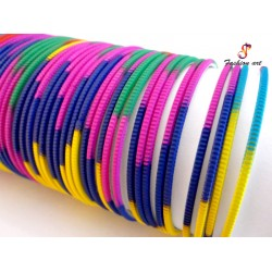Neon-100 Multicolour Metal Bangle (2 Set's Box)