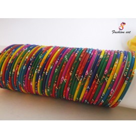 Rangoli - Multicolour Thin Kada (MS,LS)