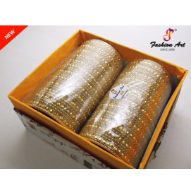 Ronak Golden - Metal Bangle Set (2 Set's Box)