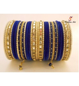 SPC-6193 - Metal Bangle Set with Latkan (6 Set's Box)