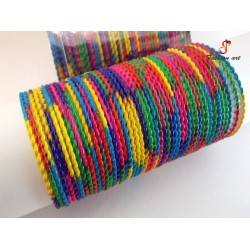 Top India - Multicolour Metal Bangle (2 Set's Box)