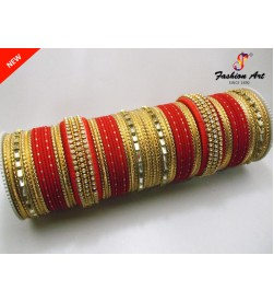 SPC-TBL-3-A Thread Work High Quality Designer Metal Bangle Set