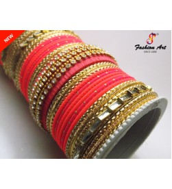 SPC-TBL-3-B Thread Work High Quality Designer Metal Bangle Set